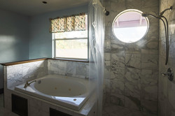 Master bath:  Double sinks, spa tub, and separate shower