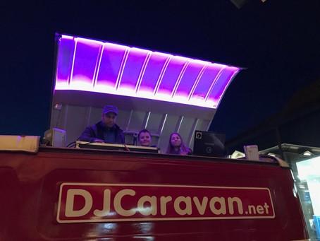 De nieuwe led verlichting in de TtKoP dj booth...