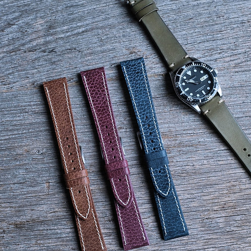Chrome Stitched Watch Straps