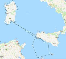 rotta 2019 - sardegna e Sicilia Egadi e