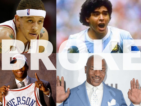 HIGH PAID ATHLETES WHO WENT COMPLETE BROKE