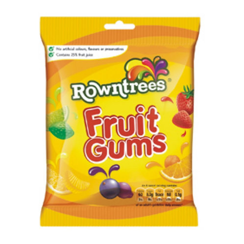 Rowntree's Fruit Gums - 120g Bag