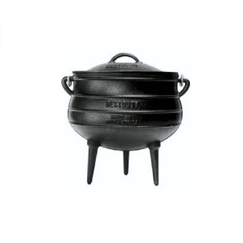Potjie Size 4 (three legs) Cast iron Pot - 9.3 Litres