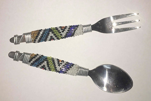 Teaspoons and Forks Beaded