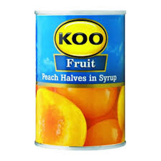 KOO Peach halves in syrup