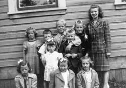 Miss McBeath and Class 1945