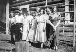 E Bramble and Harry Stepp families