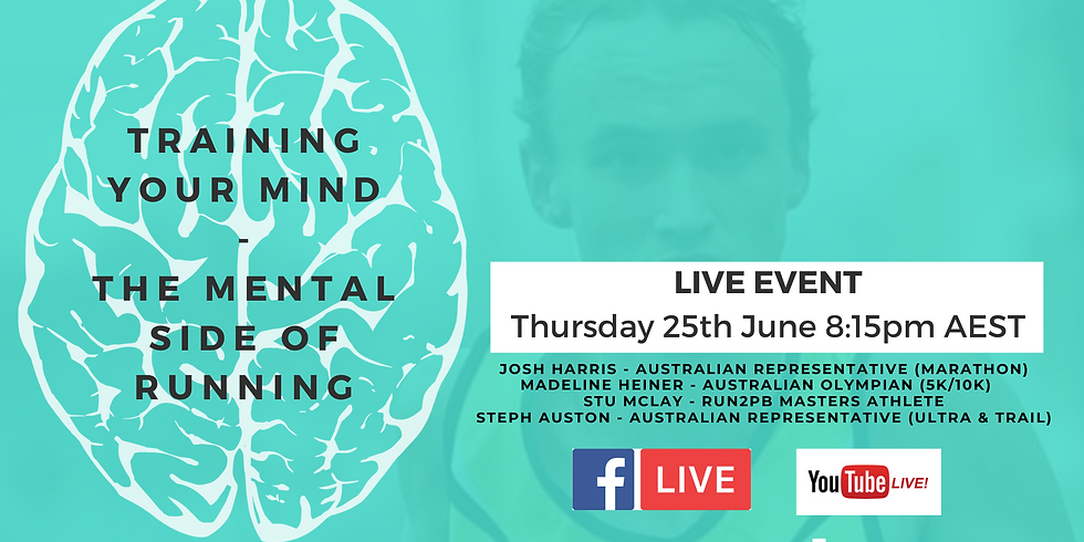 """Run2PB presents """" Training your Mind - The Mental Side of Running""""  Online Live Q&A"""