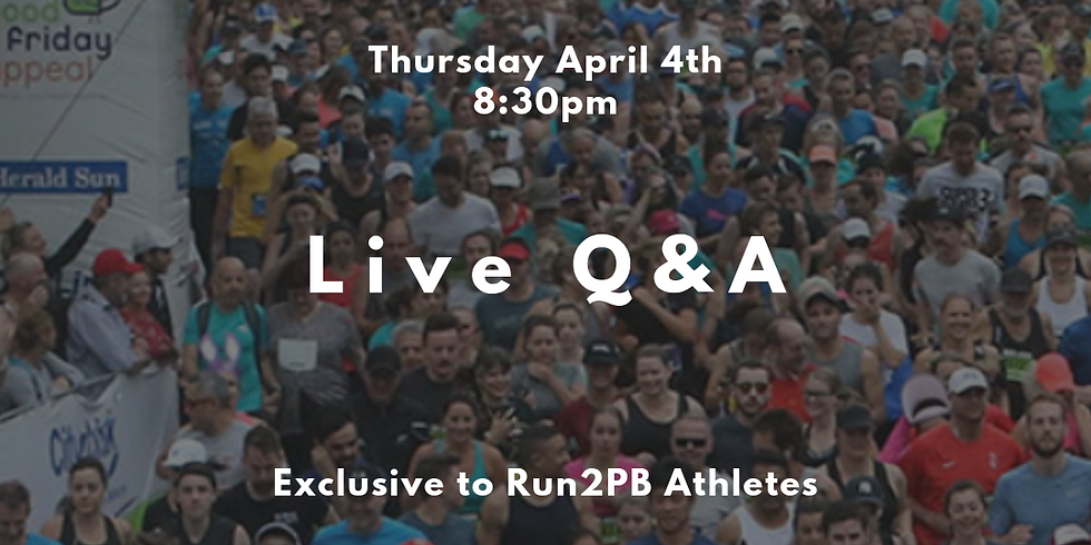Pre Race - Run For The Kids 2019 Q&A Chat
