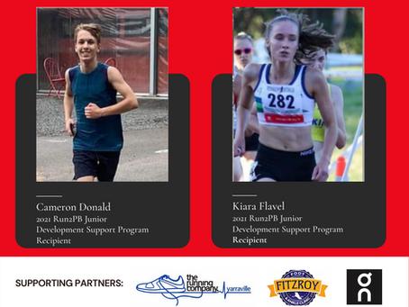 Meet our Run2PB Junior Development Support Program Recipients, Cameron & Kiara