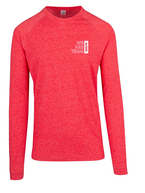 WOMENS RUN2PB LONG SLEEVE TRAINING TEE (Heather Red)