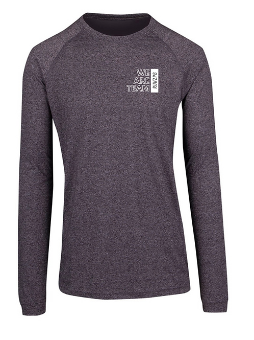 MENS RUN2PB LONG SLEEVE TRAINING TEE (Grey Marle)