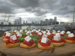 Canapés over the Thames