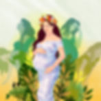 Illustration about the challenges of pregnancy