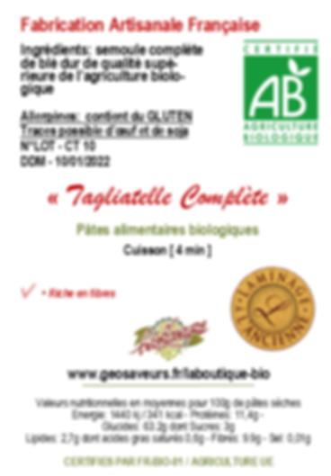 Tagliatelle_complète pâte bio géosaveurs