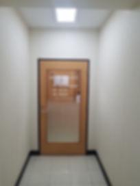 整体院の入り口のドア