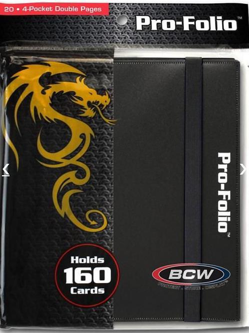 BCW Pro Folio Binder - Black