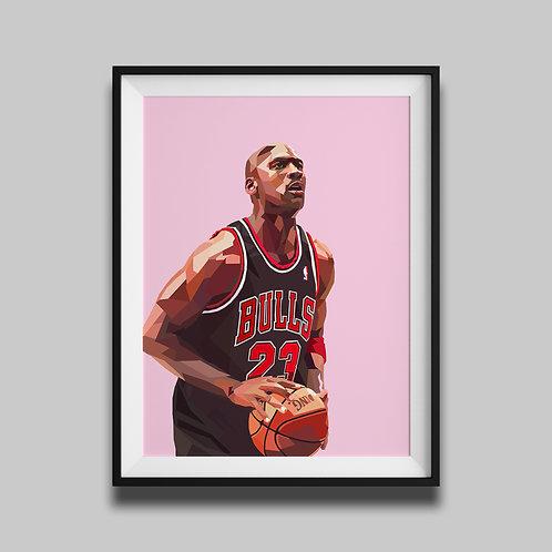Michael Jordan - Pink
