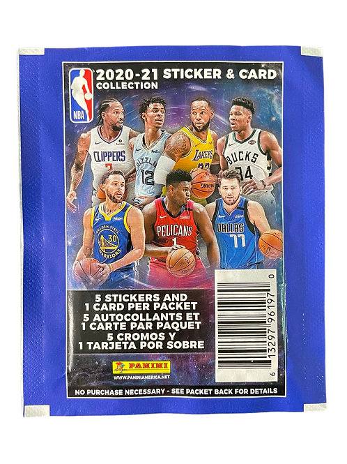 2020-21 NBA Stickers & Card Pack
