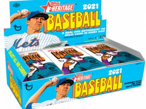 2021 MLB Topps Heritage Pack