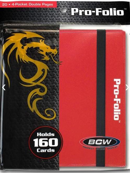 BCW Pro Folio Binder - Red