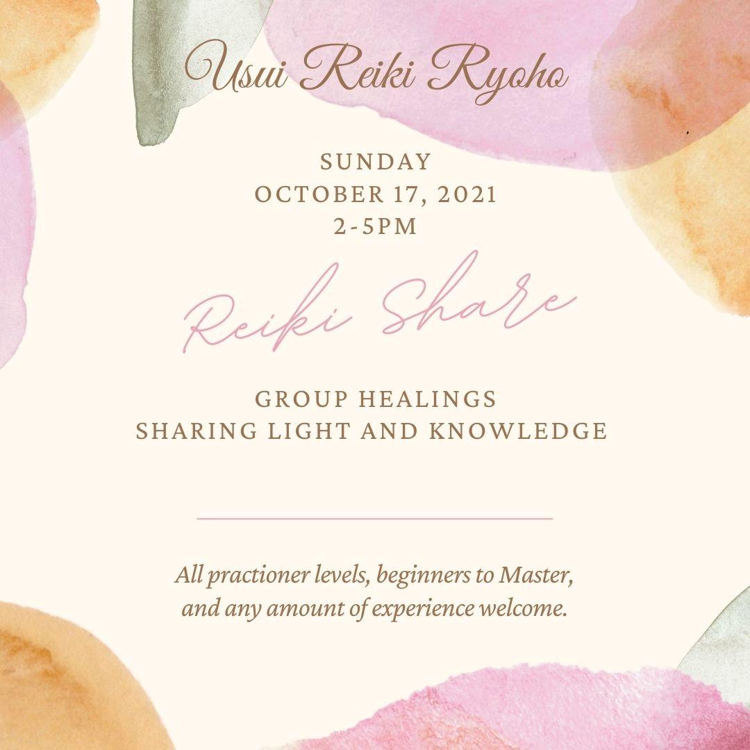 Reiki Share Group October 17, 2021