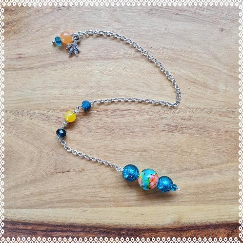 Peacock blue pendulum