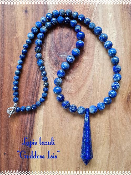 """Goddess Isis"" necklace with lapis lazuli"
