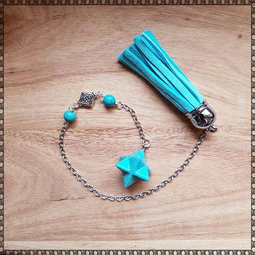 Merkaba turquoise gemstone pendulum