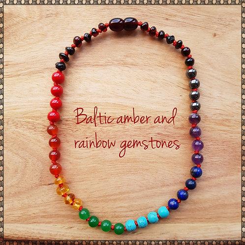 Rainbow baby necklace