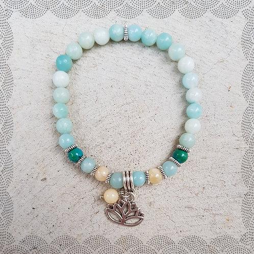 Mala bracelet with Peru amazonite