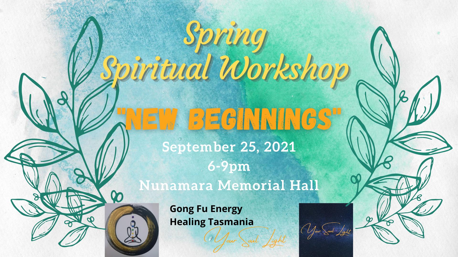 """""""New Beginnings"""" Spring Workshop"""
