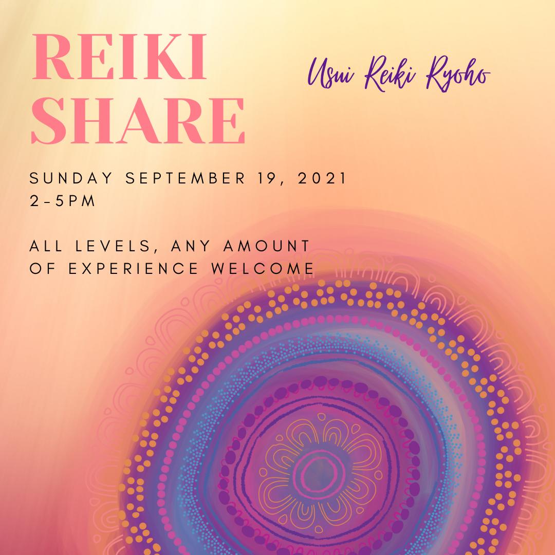 Reiki Share Group September 19, 2021