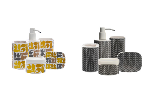Orla Kiely Stem Soap Dish Elephant Grey Home Decor