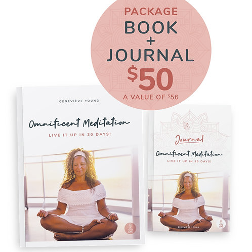 Package Book and Personal Journal Omnificent Meditation Live it up in 30 days!