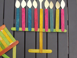 Popsicle Lights: Chanukah Crafts for Kids