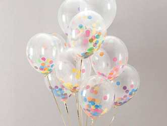 New Year's Homemade Confetti Filled Balloons