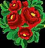 Blomster broderte