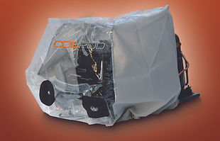 coilpod dust containment bag for cleaning commercial refrigeration