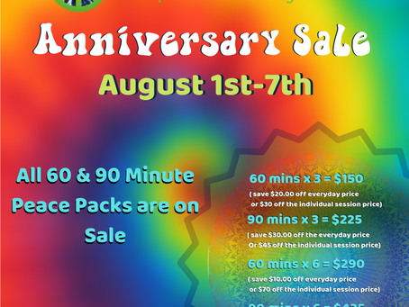 Anniversary Sale (August 1st-August 7th)