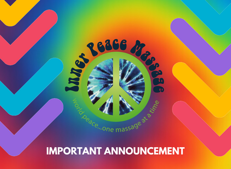 Inner Peace Massage will Re-open on June 1st (Tentative, subject to change)