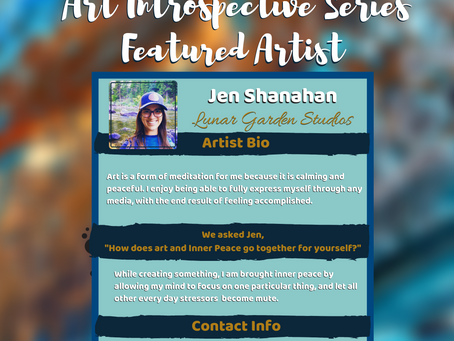 Inner Peace Massage welcomes Jen Shanahan our 2nd artist for our Art Introspective Series.