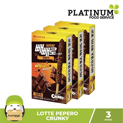 Lotte Pepero Crunky 39g Set of 3