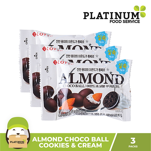 Almond Choco Ball Cookies & Cream 3packs