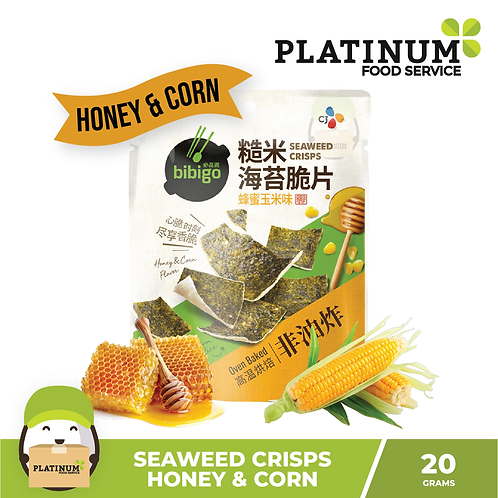 CJ Bibigo Seaweed Crips Honey & Corn 20g