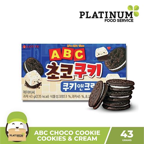 ABC Choco Cookie Cookies & Cream 43g