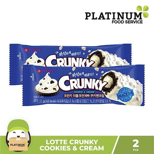 Lotte Crunky Cookies & Cream 2pcs