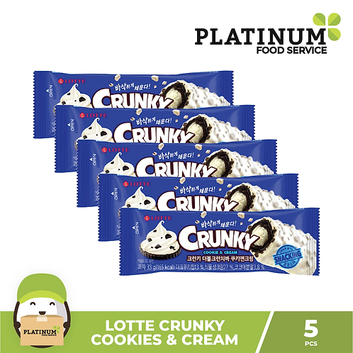 Lotte Crunky Cookies & Cream 5pcs