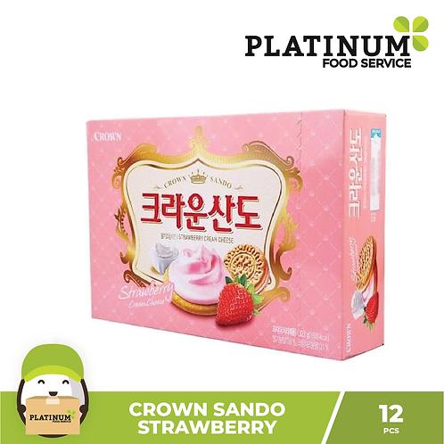 Crown Sando Strawberry 12pcs