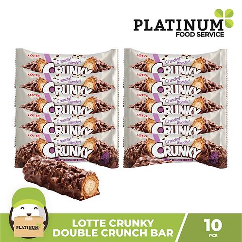Lotte Crunky Double Crunch Bar 10pcs